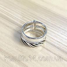 Срібне кільце Komilfo з фіанітами (1982396) 19 розмір, фото 3