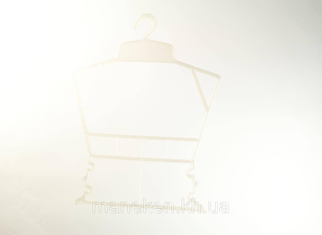 """Вешалка-рамка для одежды TREMVERY """"Рамка детская"""" белая перламутровая (001п) P1"""