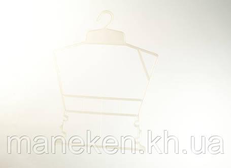 """Вешалка-рамка для одежды TREMVERY """"Рамка детская"""" белая перламутровая (001п) P1, фото 2"""