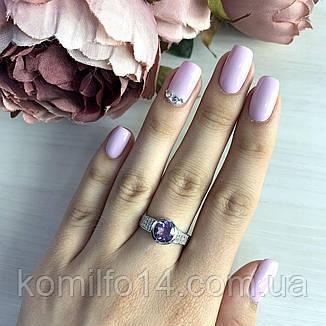 Серебряное кольцо с натуральным аметистом, фото 2