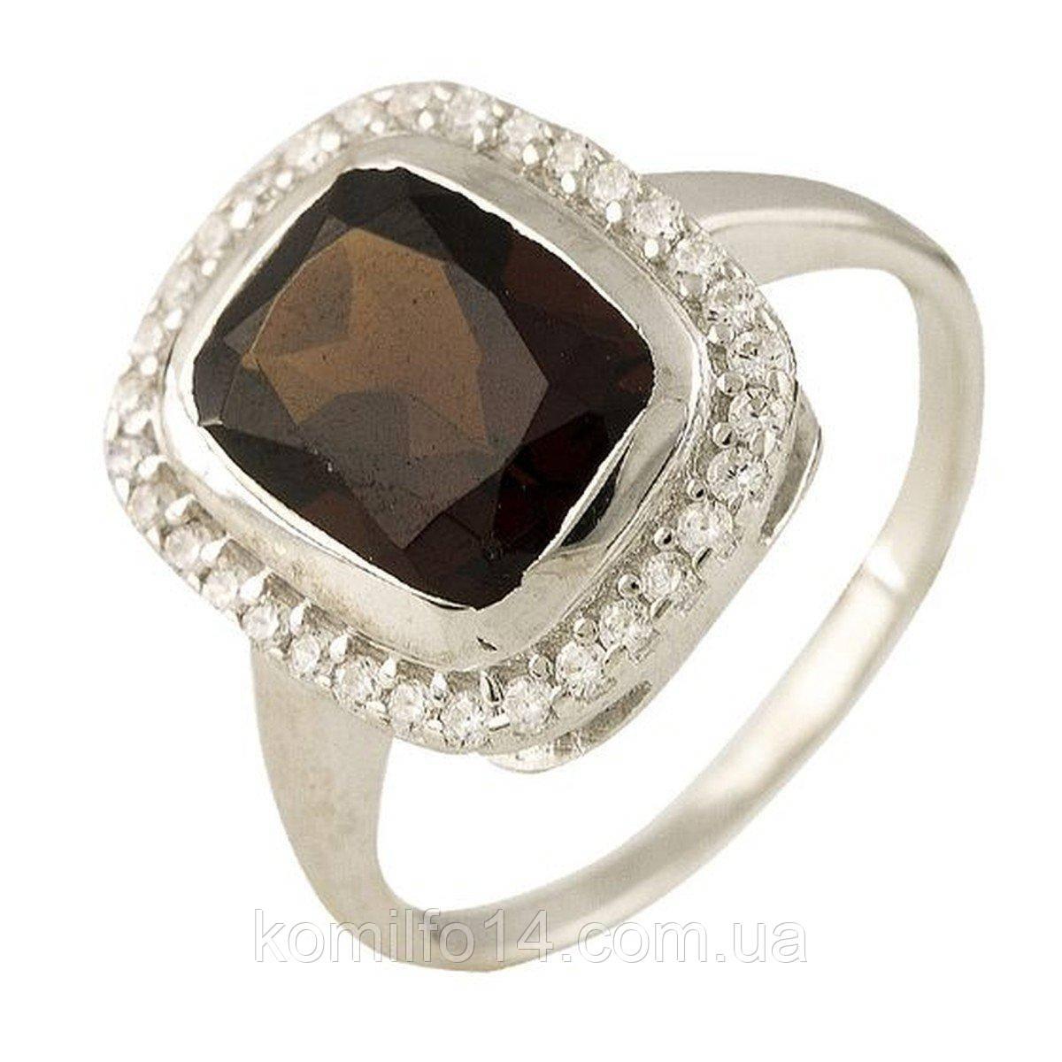 Серебряное кольцо с натуральным гранатом