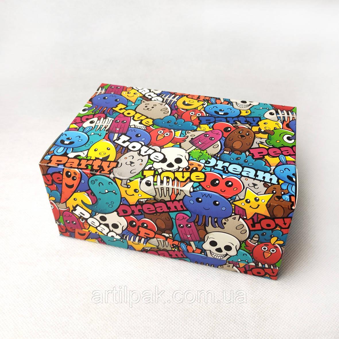 Коробка-контейнер 180*120*80 Графіті