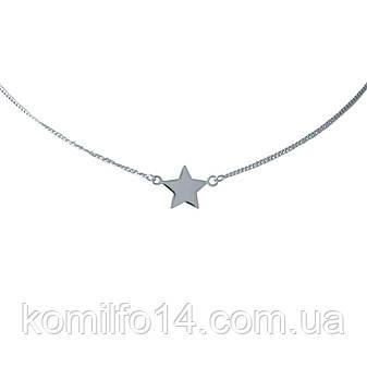 Срібне кольє Komilfo без каменів (1993743) 450 розмір, фото 2