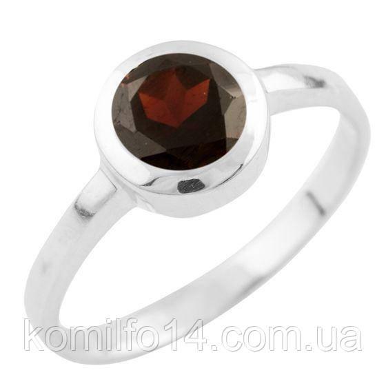 Серебряное кольцо Komilfo с натуральным гранатом (1513354) 17 размер
