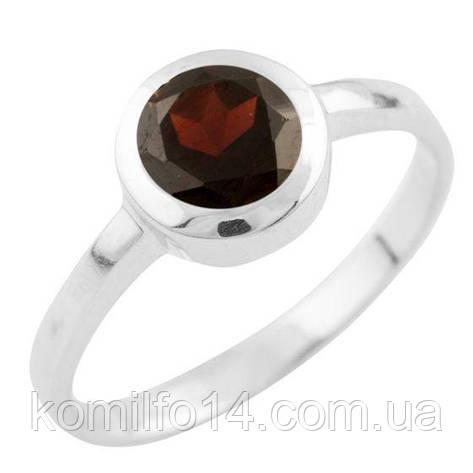Серебряное кольцо Komilfo с натуральным гранатом (1513354) 17 размер, фото 2