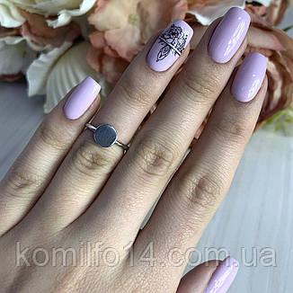 Серебряное кольцо без камней, фото 2