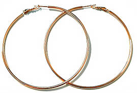 Серьги - кольца гладкие фирмы Xuping, цвет: позолота КО. Диаметр серьги: 7,5 см, толщина: 2 мм.