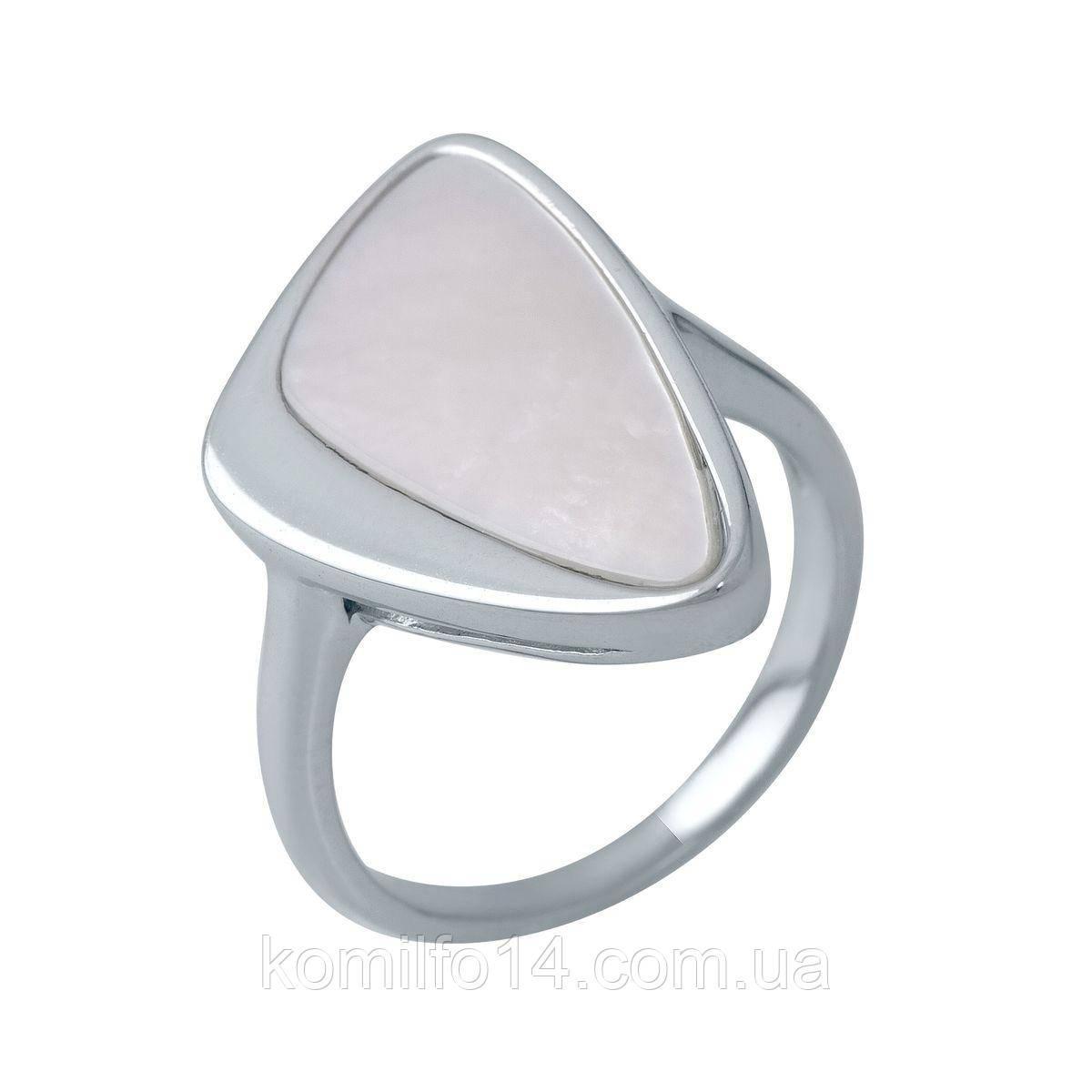 Срібне кільце з натуральним перламутром