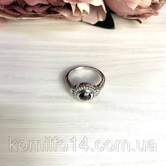 Срібне кільце з натуральним гранатом , фото 2