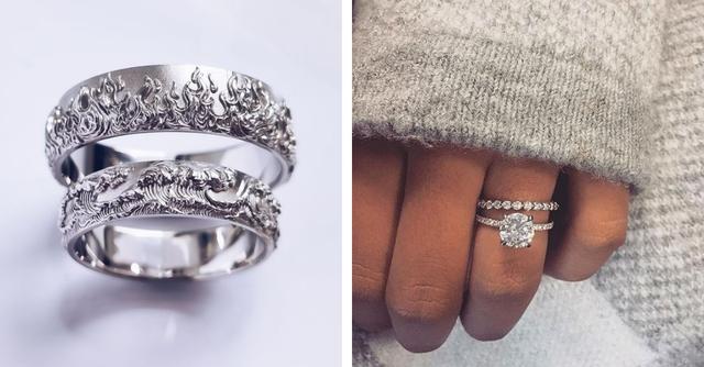 Откуда взялся тренд, носить обручальное кольцо и помолвочное на одном пальце — фото №6