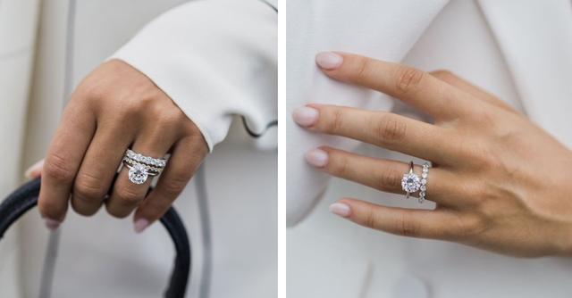 Как носить обручальное и помолвочное кольцо вместе — фото №7