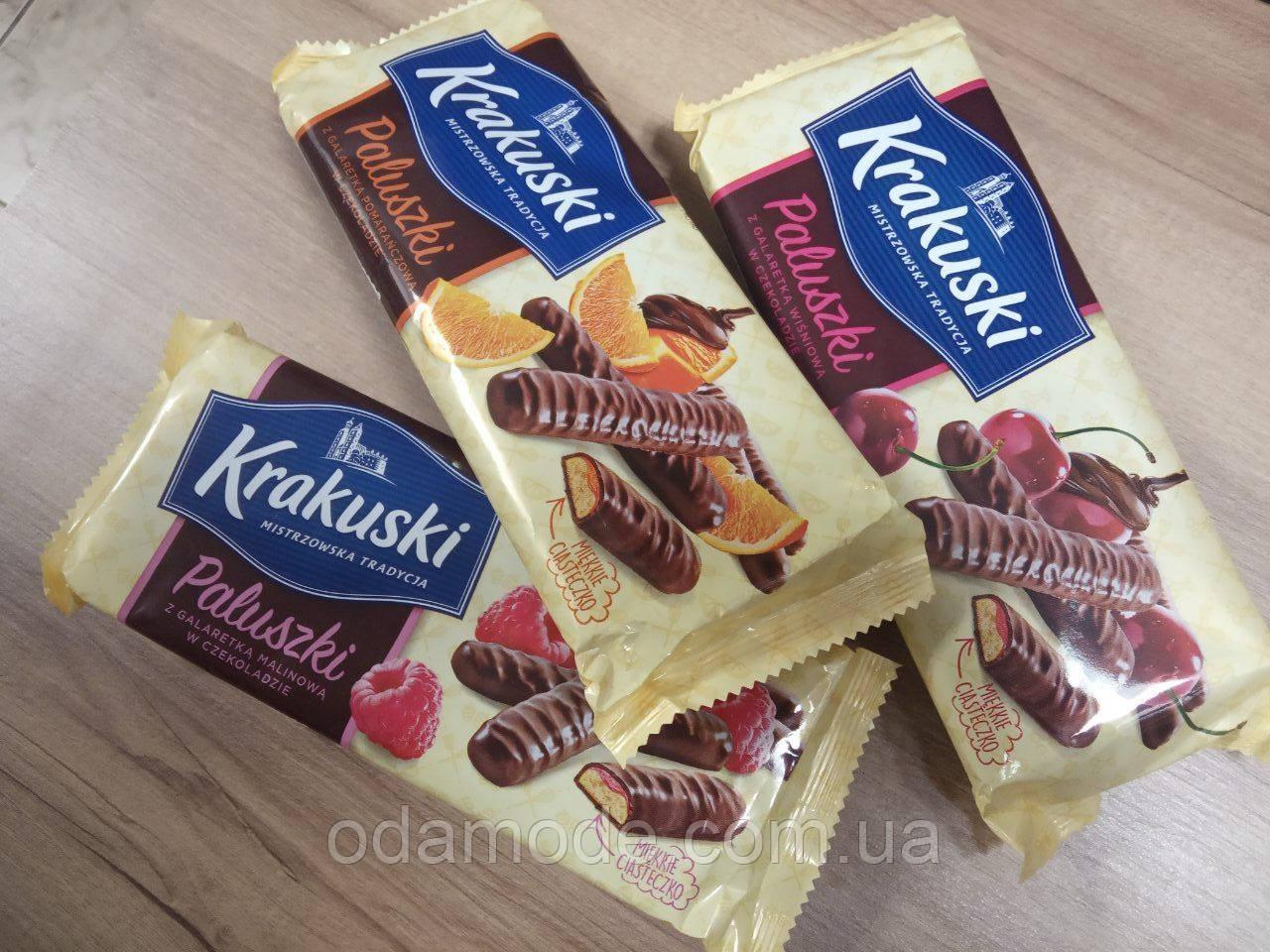 Печиво в шоколаді з желе Krakuski 144г (Польща)