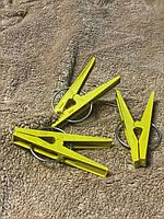Пластмассовые крепкие желтые прищепки 85мм для сушки белья