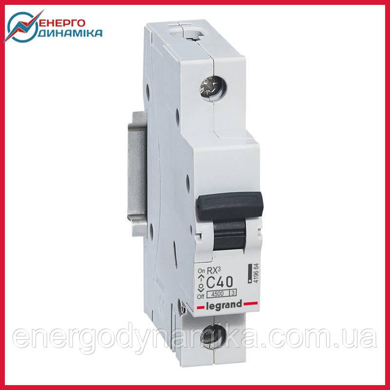 Автоматический выключатель Legrand RX3 40А 1п C 4.5кА 419668