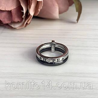 Серебряное кольцо с керамикой, фото 2