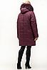Зимняя куртка женская с натуральным мехом большого размера 54-70, фото 3
