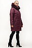 Зимняя куртка женская с натуральным мехом большого размера 54-70, фото 2