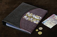Альбом для 692 монет и 12 бон ЛЮКС Темно-коричневый