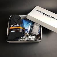 Мужской набор, мужское термобелье Columbia, термо носки, сенсорные перчатки iGlove в подарочной коробке видео