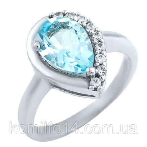 Серебряное кольцо с натуральным топазом, фото 2