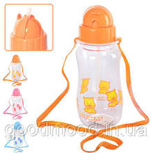 Поїлка пластик дитяча з ремінцем 530мл, J00186