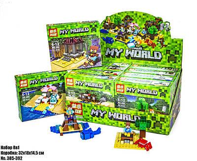 Конструктор Minecraft в блоке 8 в 1 385-392