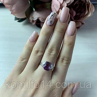 Серебряное кольцо с натуральным александритом, фото 2