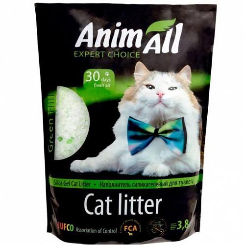 """Наповнювач силикагелевый AnimАll (АнимАлл) """"Зелений пагорб"""" 3,8 л без аромату для котячого туалету"""