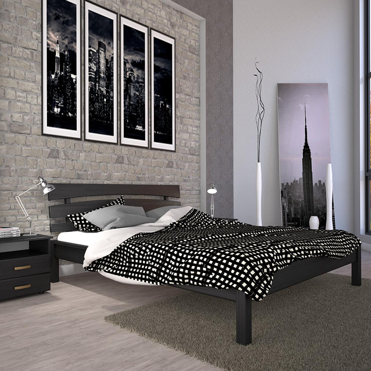 Кровать деревянная Домино-3 двуспальная