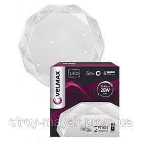 Смарт светильник светодиодный VELMAX V-CL-DIAMOND 70W, 500*80.5мм, 3000K-6500K, 4900LM пульт