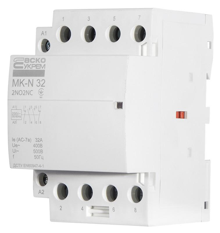 Модульний контактор MK-N 4P 63A 2NO+2NC 220V