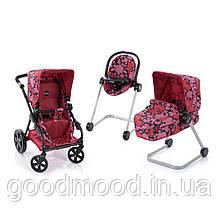 Набір ігровий D-88850 візок, стілець для годування, шезлонг, мет., кор., 58,5-37,5-19 см.