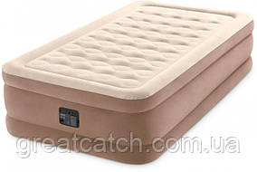 Надувная кровать Intex со встроенным электрическим насосом