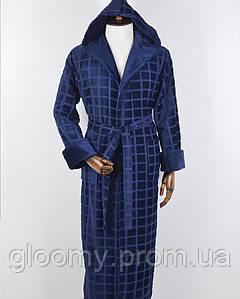 Мужской халат  Massimo Monelli (0007) синий
