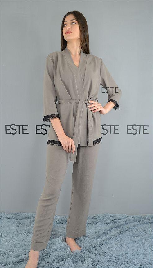 Комплект женской домашней одежды 610 какао.