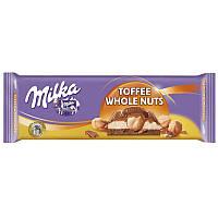 Шоколад молочный Milka Toffee Wholenut  300г.