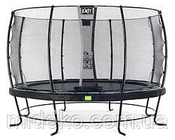 Батут для взрослых и детей EXIT Elegant 427 cm black с защитной сеткой  (Нидерланды)