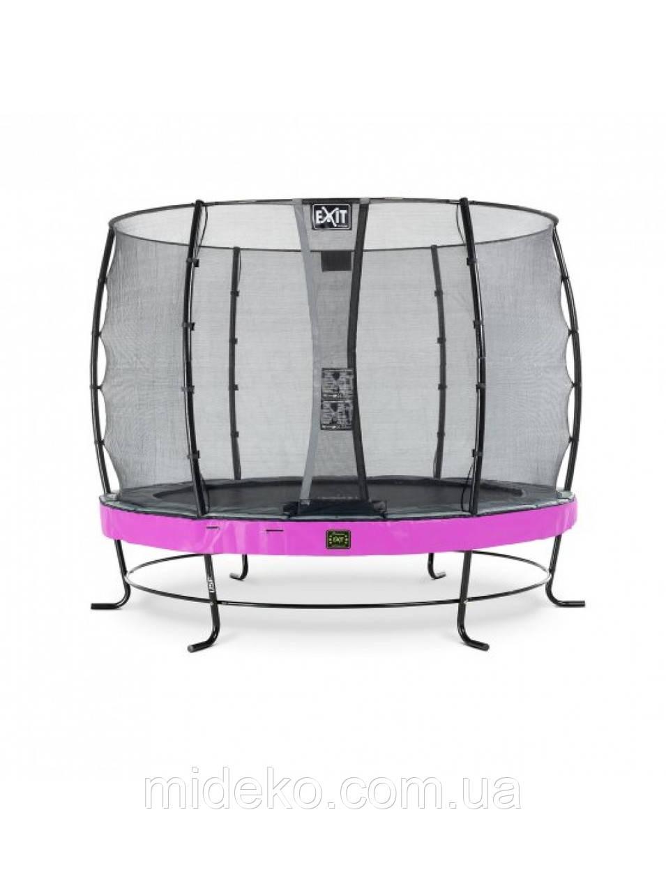 Качественный батут для детей EXIT Elegant Premium 305cm purple  с защитной сеткой Стандарт (Нидерланды)