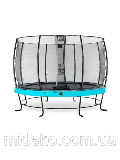 Батут для взрослых и детей EXIT Elegant Premium 366cm Blue с защитной сеткой стандарт (Нидерланды)