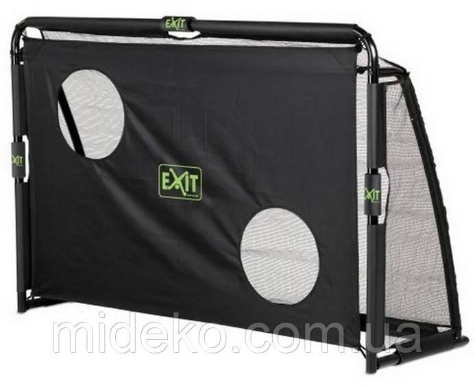EXIT футбольные ворота для детей, взрослых и мини футбола складные Маэстро 180 х 120 см чёрные