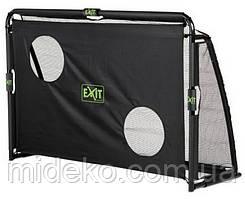 EXIT футбольні ворота для дітей, дорослих та міні футболу складні Маестро 180 х 120 см чорні