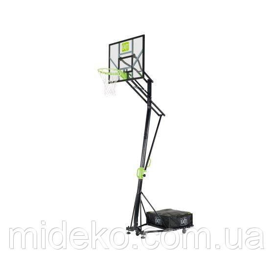 Переносний баскетбольний щит EXIT Galaxy green/black на коліщатках