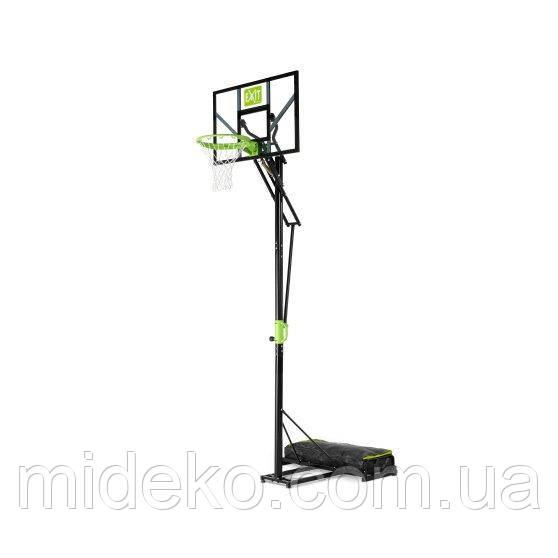 Передвижной баскетбольный щит Polestar EXIT green/black на колёсиках