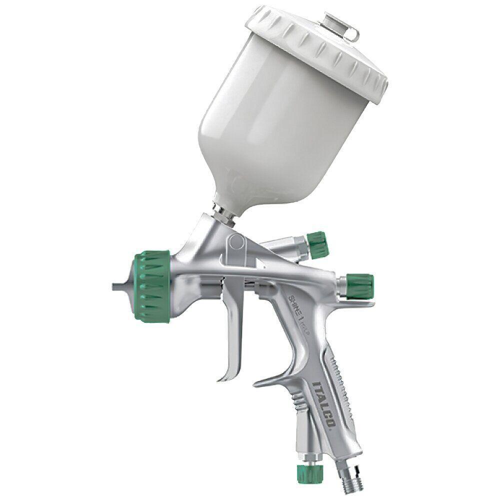 Краскопульт пневматический ITALCO Shine-1.4 HVLP верх.пласт.бачок 600мл, форсунка-1,4мм