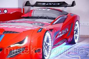 Кровать в виде машины BMW красная Турция