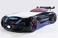 Кровать машинка Tesla Star dream чёрная Турция, фото 1