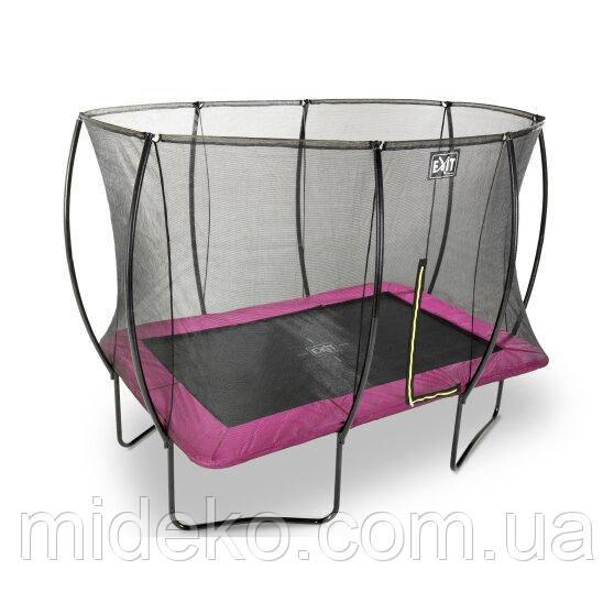 Батут EXIT Silhouette с защитной сеткой прямоугольный 214x305см розовый на ножках