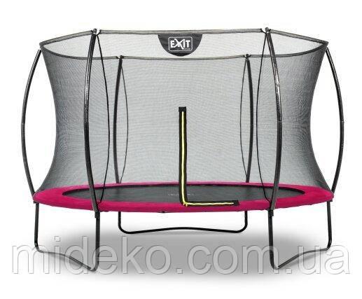 Батут EXIT Silhouette 305 см с защитной сеткой розовый