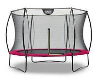 Батут EXIT Silhouette 305 см с защитной сеткой розовый, фото 1