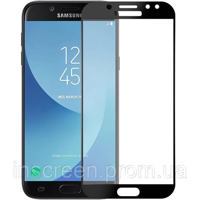 3D Защитное стекло для Samsung J730 Galaxy J7 (2017) черное, фото 2
